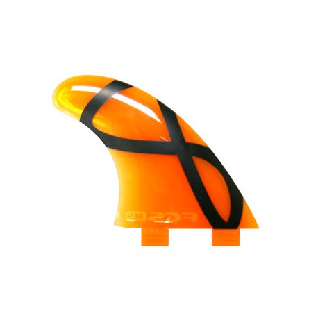 FCS M-5 IFT Softflex Tri Set Fins Orange