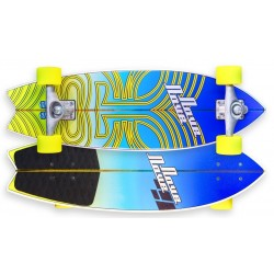 NoveNove Surf Skate Short Blue