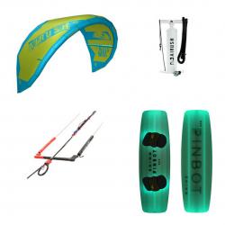 Airush Kite + Shinn Pinbot RX3 Green + Bar + Pumpe - komplet  pakke