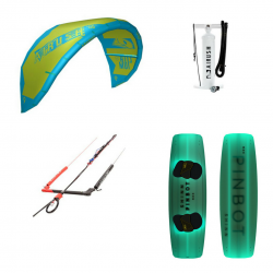 Airush Kite + Shinn Pinbot RX3 Green + Bar + Pumpe - komplet pakke