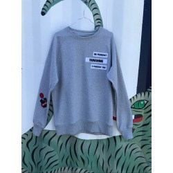 ADP Patched Up Crewneck Grey