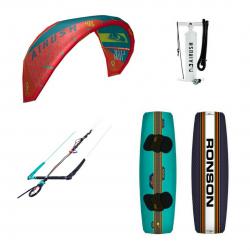 Airush Core Kite Acid Teal + Shinn Ronson + Bar + Pumpe - komplet pakke