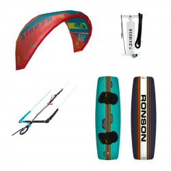 Airush Core Kite Acid Teal + Shinn Ronson + Bar + Pumpe - komplet pakke