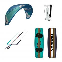 Airush Core Kite Reefer Blue + Shinn Ronson + Bar + Pumpe - komplet pakke