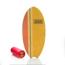 Trickboard Surfer Wave Yellow + Roller - Balanceboard