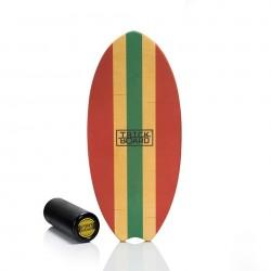 Trickboard Surfer Wave Red + Roller - Balanceboard