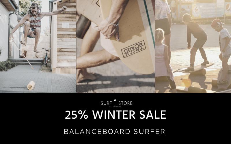 balanceboard surfer windsurfing